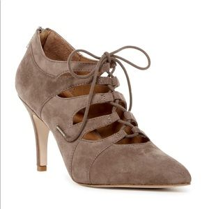Corso Como // Point Toe Nude Lace Up Heels Sz 9.5